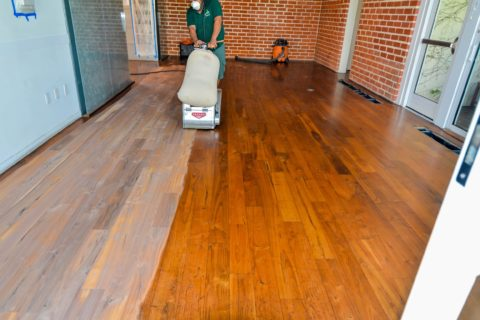 refinishing walnut engineered floors
