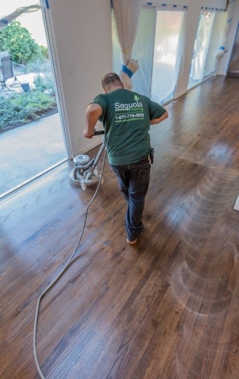 Beverly Hills cupped wood floors refinishing staining