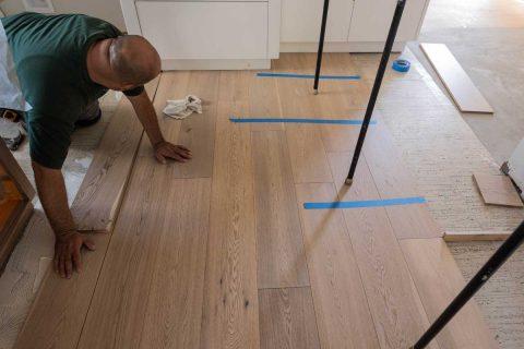 Alhambra CA Oak engineered glue down flooring