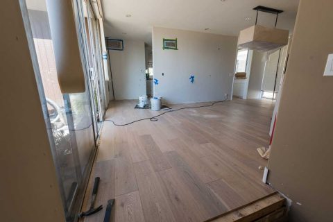 Alhambra CA Oak engineered glue down flooring