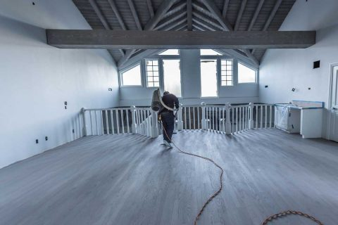 Encino Oak Floors Refinishing Staining Gray
