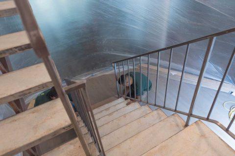 Encino Solid Walnut Stair Installation