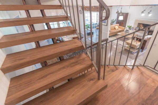 Encino-Solid-Walnut-Stair-Installation