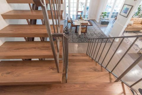 Encino Solid Walnut Stair Installation