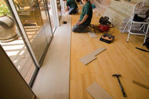 Installation European Oak Glue Down Over Existing Floor Sherman Oaks