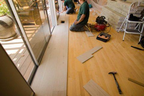 Installation European Oak Glue Down Over Existing Floor Sherman Oaks